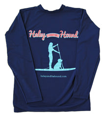SPF T-shirt in Navy Stand Up Paddleboard