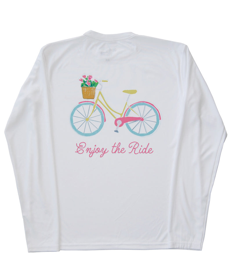 SPF T-shirt in White - Enjoy the Ride