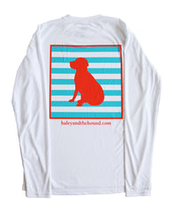 SPF T-shirt in Coral Striped Lab on White