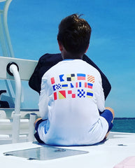 Youth SPF T-Shirt in Nautical Flags