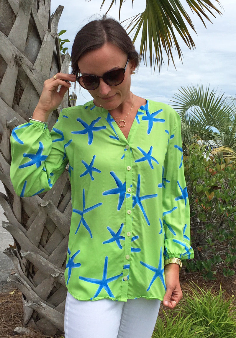 Stella Shirt in Lime Starfish