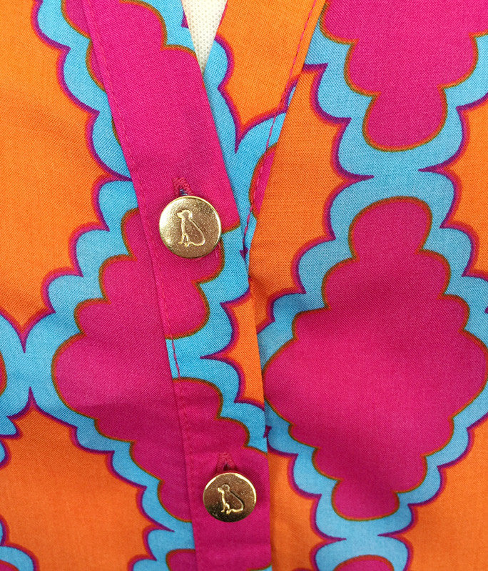 Stella Shirt in Pink Medallions