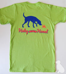 T-Shirt in Lime with Lab and Crab
