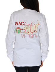 Wag, Bark and Be Merry T-Shirt in White