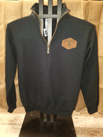 Rockford Hexagon Patch Quarter Zip Unisex Pullover