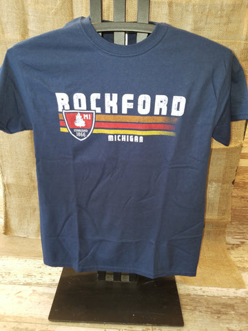 Rockford Retro Unisex T-Shirt (Available in Navy & Charcoal)