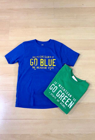 Toddler & Youth Go Blue / Go Green T-Shirts