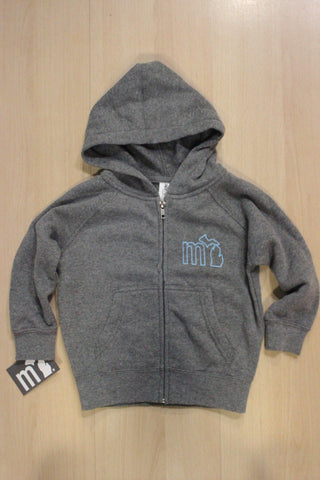 "Toddler ""MI"" State of Mind Soft Hooded Full Zip Sweatshirt"