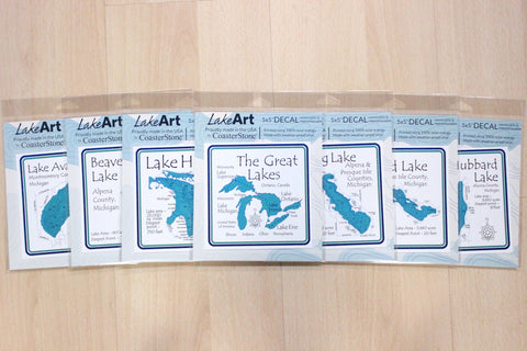 Lake Vinyl Decals - Removable and Repositionable
