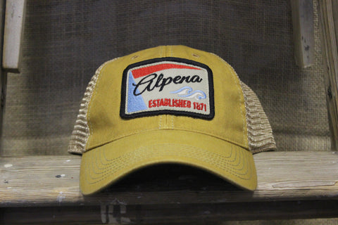 Vintage Alpena Trucker Hat (Available in grey & mustard)