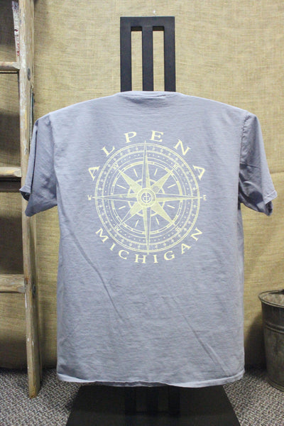 Alpena Compass Over-dyed, Ring-spun, Unisex Pocket T-Shirt