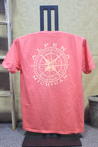 Alpena Compass Over-dyed, Ring-spun, Pocket T-Shirt