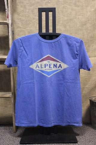 Alpena Old Gas Station Unisex T-Shirt (Available in royal & steel grey)