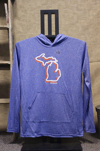 Michigan Hooded Light-Weight Performance Long Sleeve (Click to view available colors)