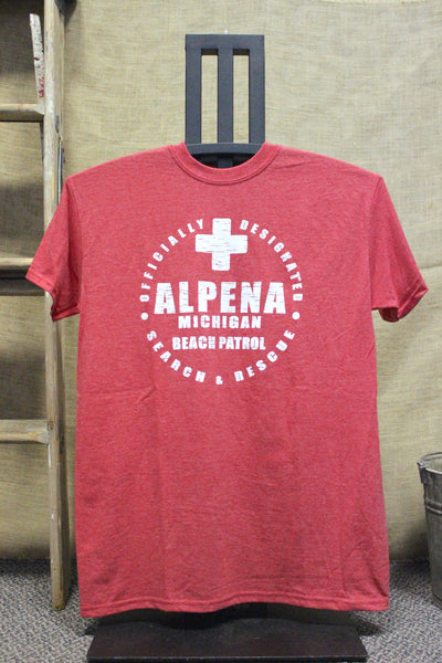 Alpena Beach Patrol Unisex T-Shirt (Available in Red & White)
