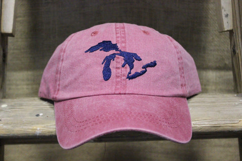 Unsalted Great Lakes Embroidered Adjustable Hats (Click to view available colors)