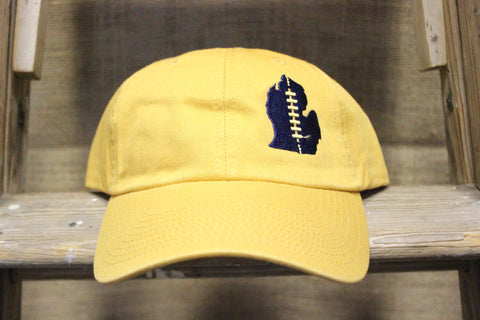 University of Michigan Embroidered Football Lace Adjustable Hat