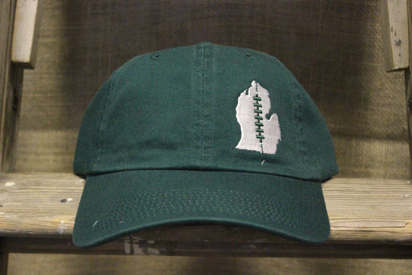 Michigan State University Embroidered Football Lace Adjustable Hat
