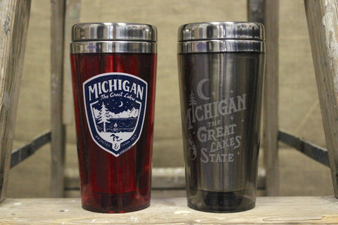 Great Lakes Travel Thermos Mugs