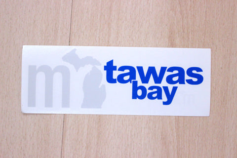 MI State Tawas Vinyl Car Decal Sticker