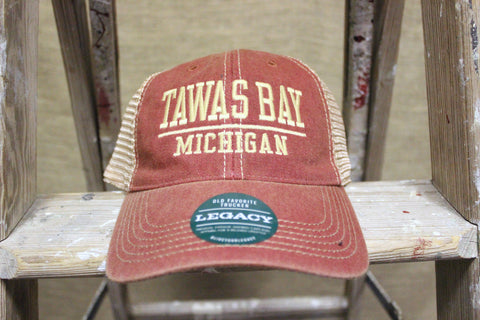 Tawas Bay Adjustable Trucker Hat (Available in Camo & Red)