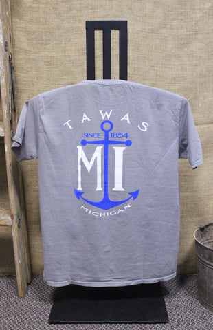 Tawas Anchor Ring-spun Unisex T-Shirt (Available in Steel Grey & Neon Coral)