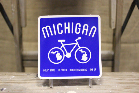 Michigan Bike Sticker