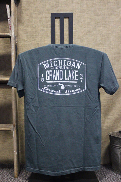 Grand Lake Unsalted Front Back Unisex T-Shirt (Click to view available colors)