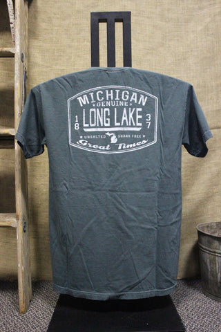 Long Lake Unsalted Front Back Unisex T-Shirt (Click to view available colors)