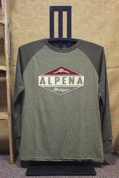 Alpena Oil Burner Tri-Blend Raglan Unisex Shirt (Click to view available colors)