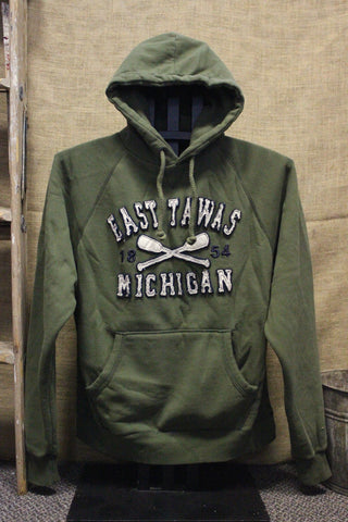 East Tawas Paddle Unisex Hooded Sweatshirt (Click to view available colors)