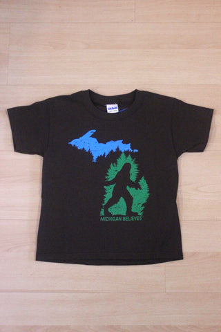 Youth Michigan Believes Bigfoot T-Shirt