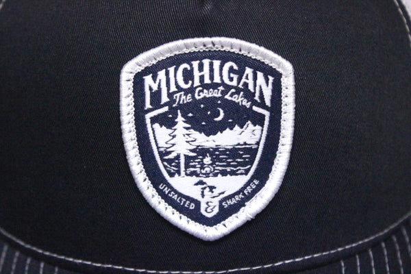 51628d1d2ebc5 ... Great Lakes Shield Unsalted Mesh Trucker Hat (Available in Light Blue    Black) ...