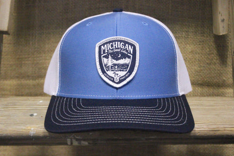 Great Lakes Shield Unsalted Mesh Trucker Hat (Available in Light Blue & Black)