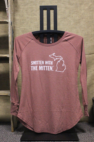 Smitten with the Mitten Women's Tri-blend Long Sleeve Tunic