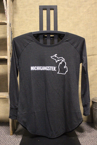 Michigangster Women's Tri-blend Long Sleeve Tunic