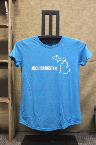 Michigangster Women's Scoopneck Tri-Blend T-Shirt (Click to view available colors)