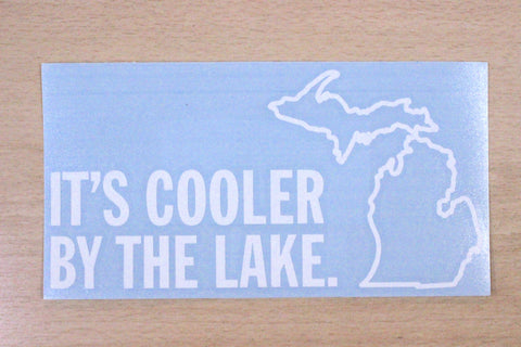 It's Cooler By The Lake Vinyl Car Decal