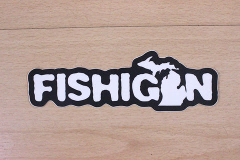 "Fishigan 6"" Sticker"