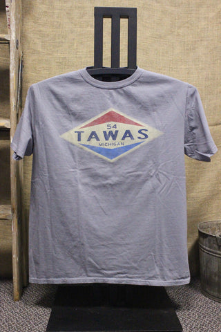 Tawas Old Gas Station Unisex T-Shirt (Available in Royal & Steel Grey)