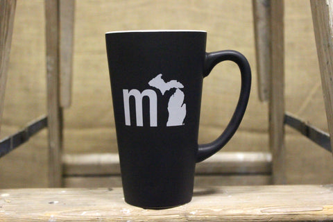 """MI State of Mind"" Tall Matte Mug"