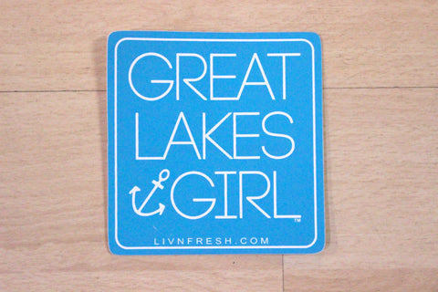 Great Lakes Girl Sticker