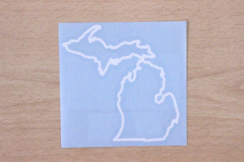 Michigan State Outline Vinyl Car Decal