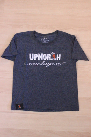Youth Up North Michigan Script T-Shirt