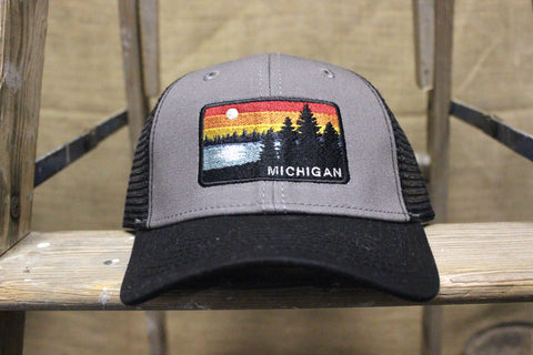 Michigan Sunset Structured Trucker Hats (Click to view available colors)