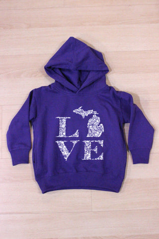 Toddler/Youth Floral Love Hooded Sweatshirt