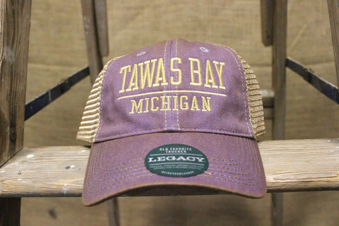 Tawas Bay Adjustable Trucker Hat - Lavender