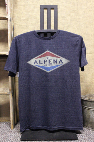 Alpena Old Gas Station Tri-Blend Unisex T-Shirt (Available in Hth Navy & Maroon)