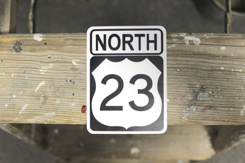23 North Sticker
