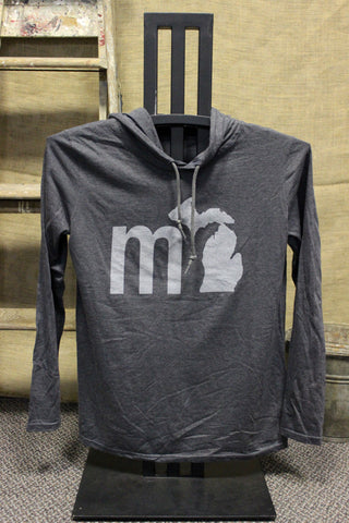 MI State of Mind Hooded Long Sleeve Shirt (Click to view available colors)